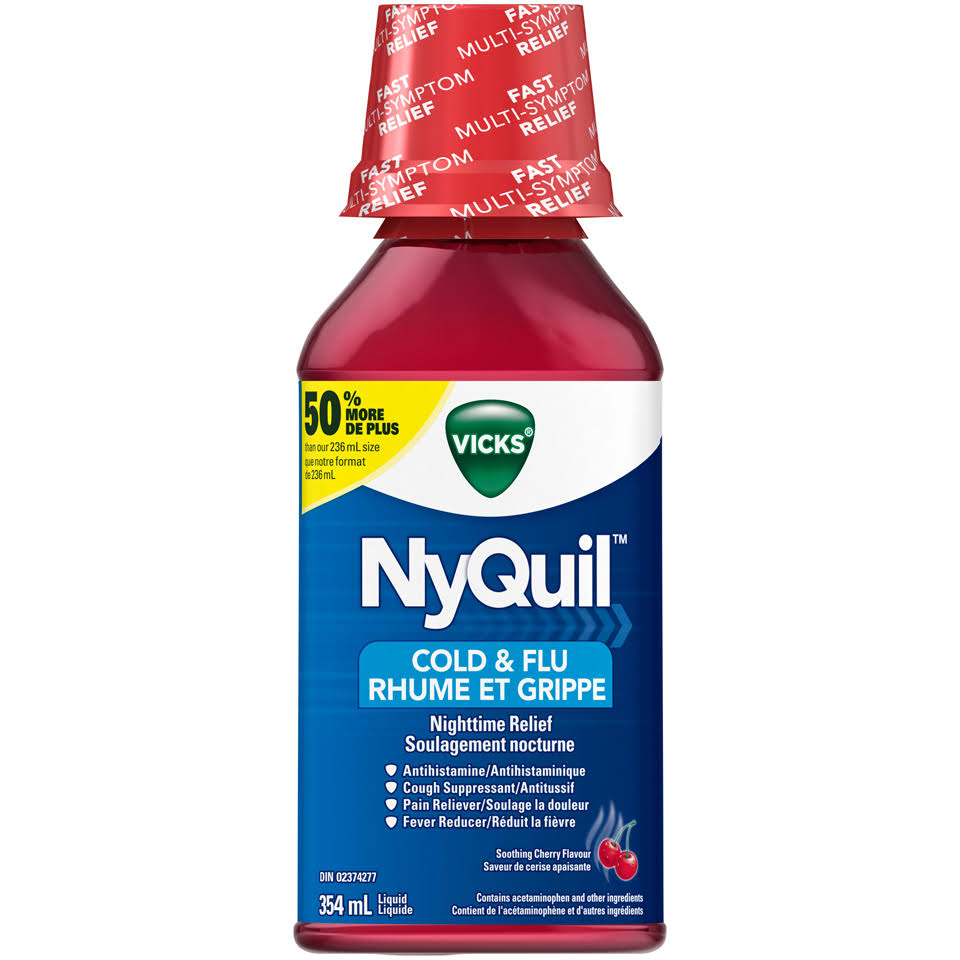 Vicks Nyquil Cold and Flu Nighttime Relief - 354ml