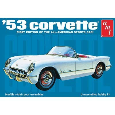 AMT 910 1953 Chevrolet Corvette Plastic Model Kit - 1/25 Scale