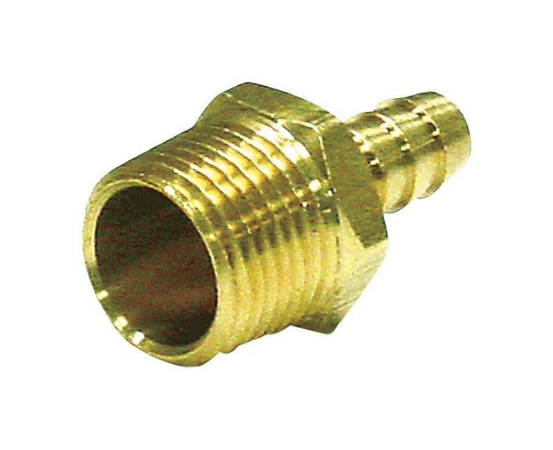 "Jmf 4504205 Hose Barb - 5/16"" x 1/4"", Yellow Brass"