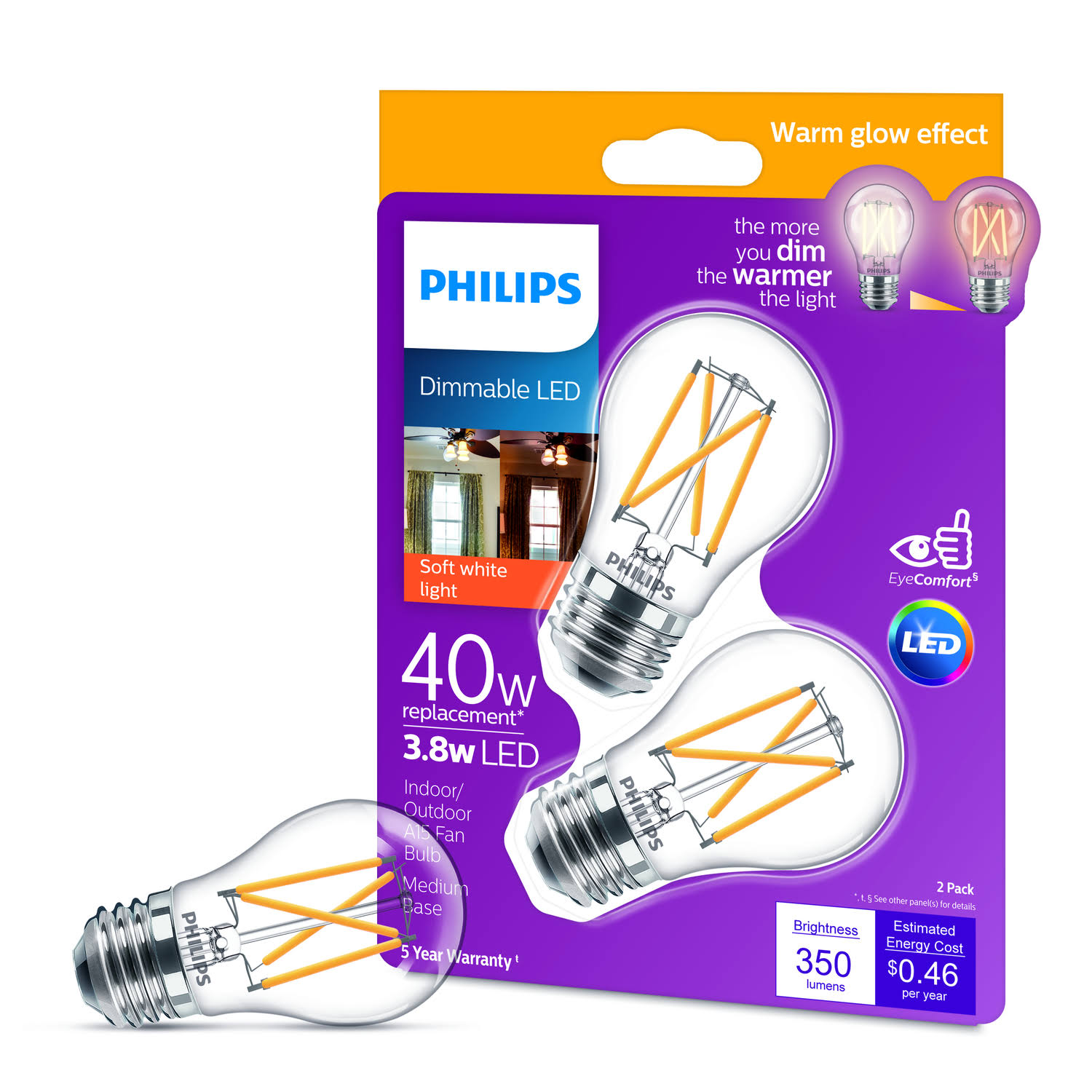 Philips LED Bulb - Soft White, E26, 40W Equivalent