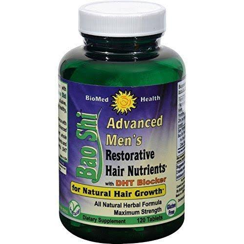 Biomed Health Inc Advanced Mens Bao Shi Restorative Hair Nutrients - 120ct