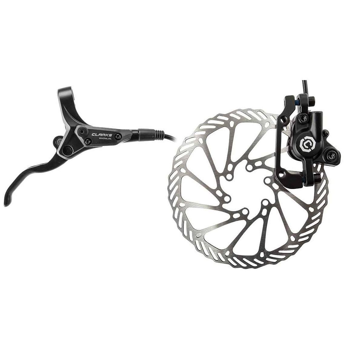Clarks M1 Hydraulic Brake Pair - 160mm, Black