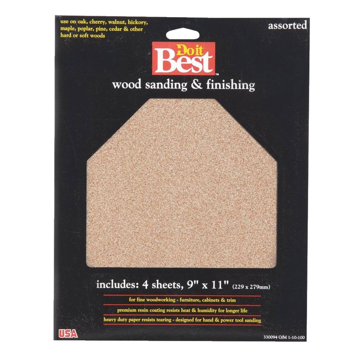 "Ali Ind Do it Best 330094 Assorted Garnet Sandpaper - 9"" x 11"""