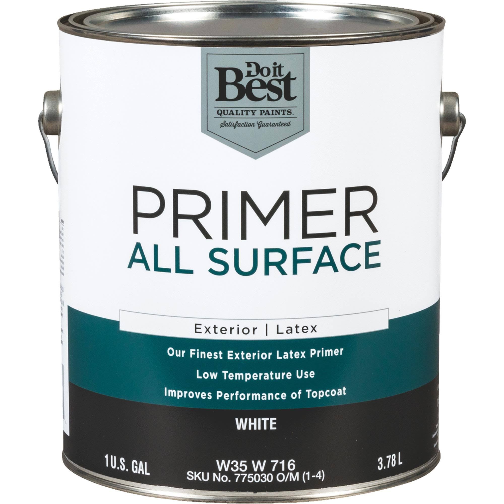 Do It Best Primer Exterior Latex - White, 3.78l