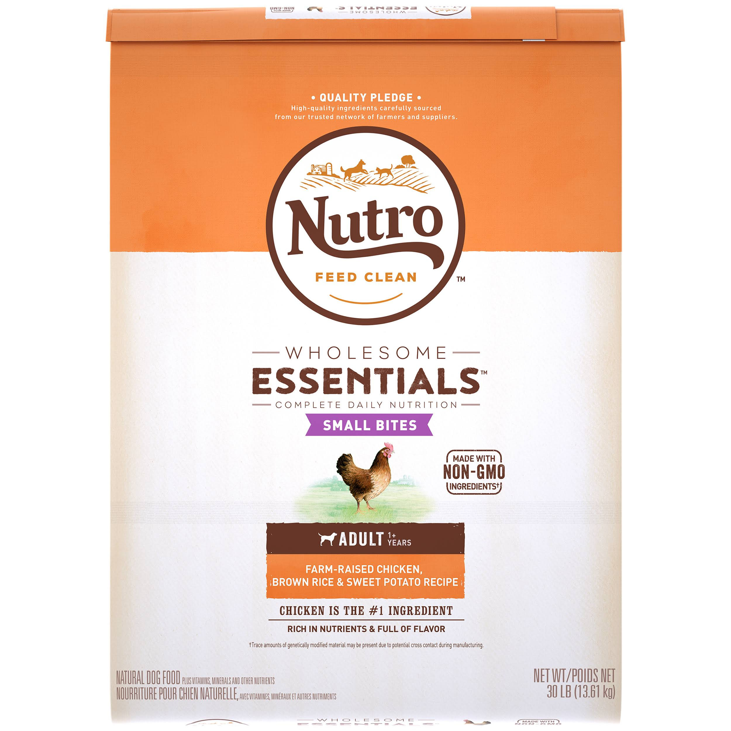 Nutro Wholesome Essentials Small Bites Adult Dry Dog Food - Chicken, Brown Rice & Sweet Potato, 30lbs