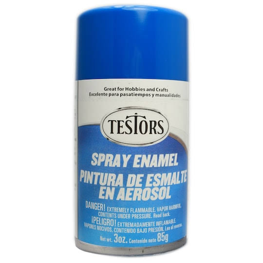 Testors Spray Enamel 3oz - Gloss Bright Blue