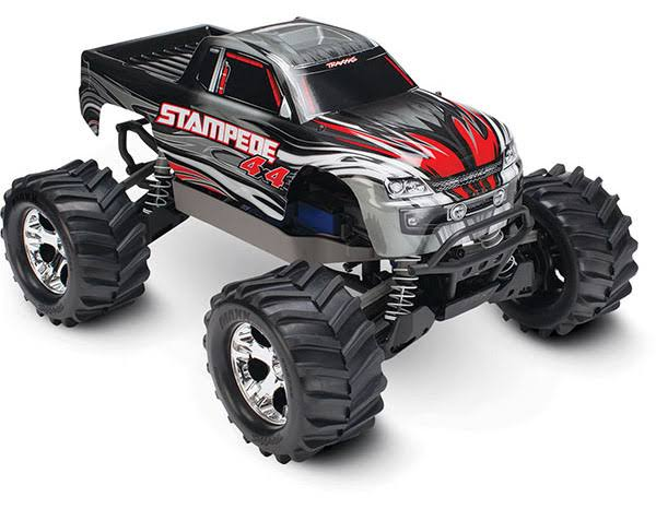 Traxxas Stampede 4X4: 1/10 Brushed Monster Truck - Silver
