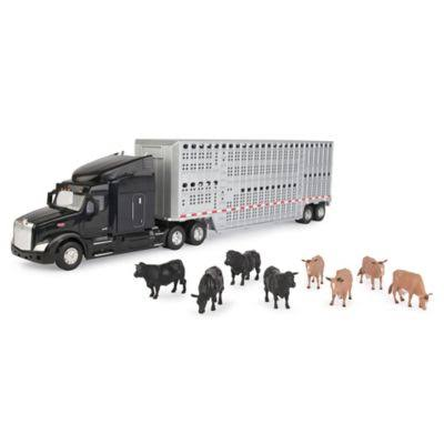 Peterbilt 1 32 579 Semi with Cattle Trailer