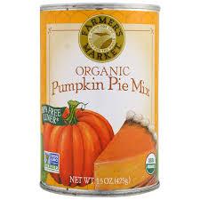 Libbys Pumpkin Pie Mix Ingredients by Farmer U0027s Market Foods Organic Pumpkin Pie Mix 15 Oz 425 G