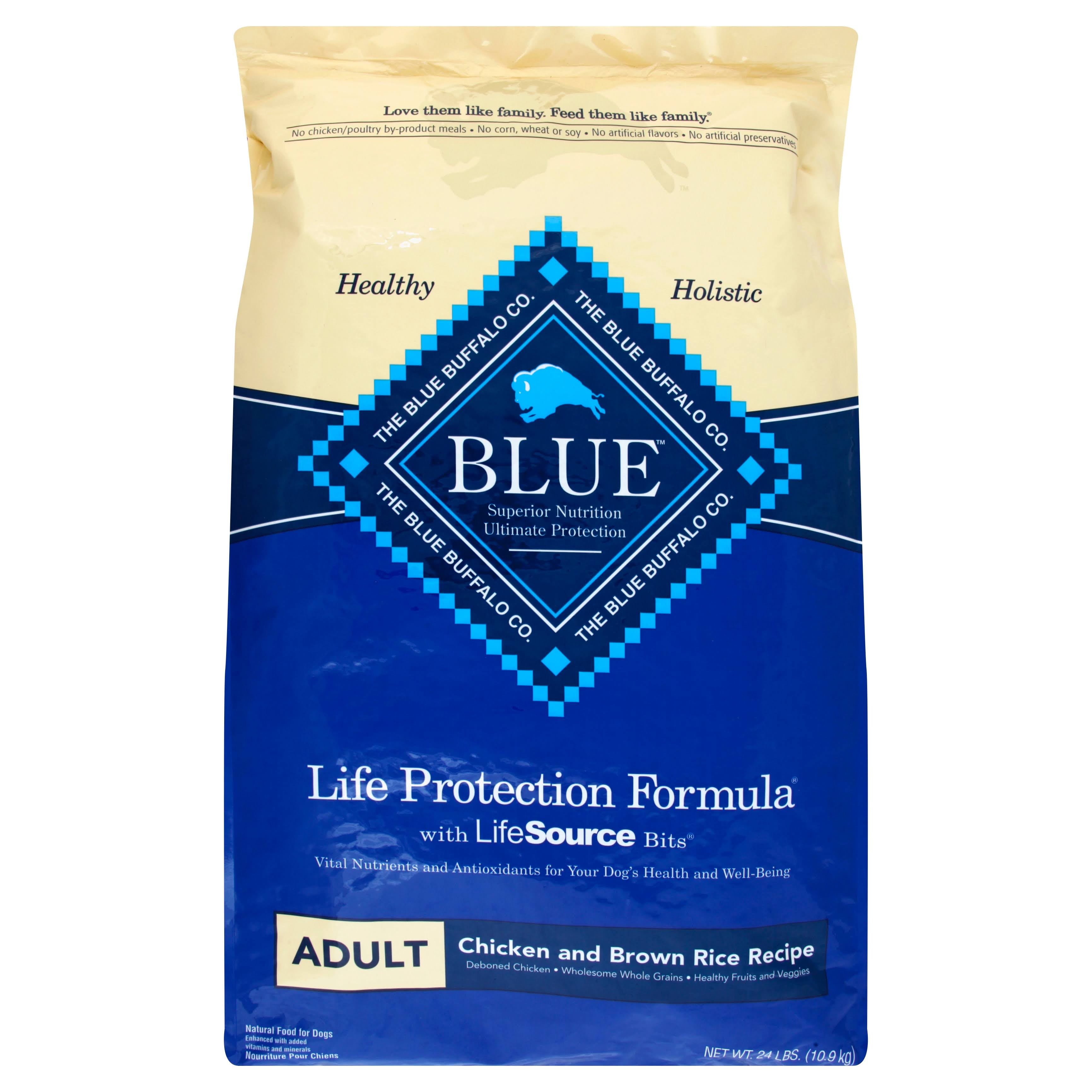 Blue Food for Dogs, Natural, Life Protection Formula, Chicken and Brown Rice Recipe, Adult - 24 lbs (10.9 kg)