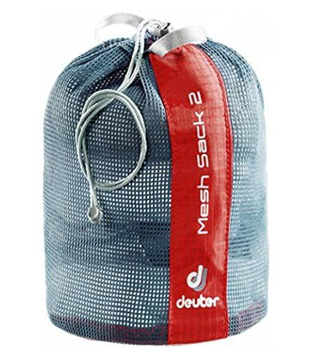 Deuter Mesh Sack - Red and Grey, 2L
