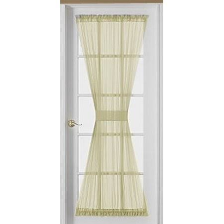 HCI Emelia Sheer Ecru Door Panel 36 inch Long, Beige