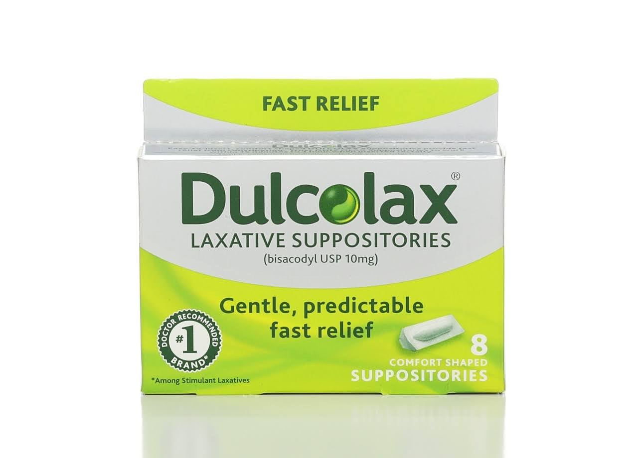 Dulcolax Medicated Laxative Comfort Shaped Suppositories - 8pk