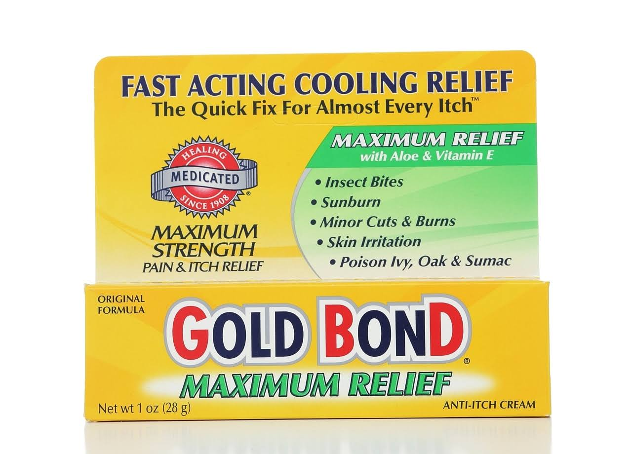 Gold Bond Maximum Relief Anti-Itch Cream - 1 oz