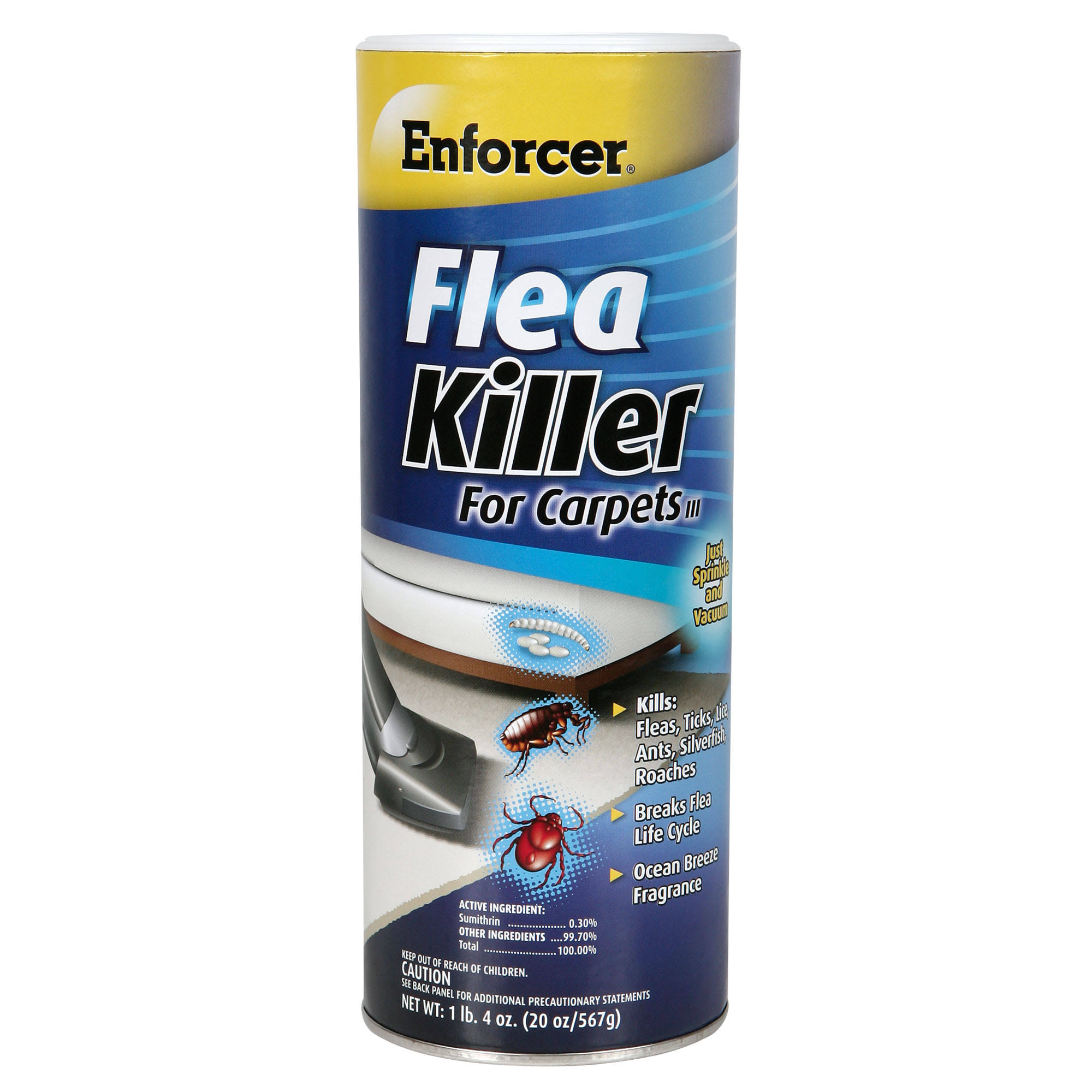 Enforcer 20-Ounce Carpet Flea Killer - Ocean Breeze, 20oz