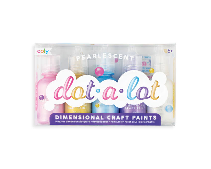 Ooly Dot-A-Lot Craft Paint - Pearlescent - Set of 5