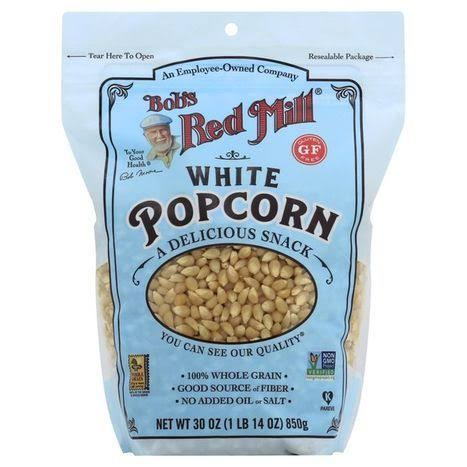 Bobs Red Mill: Whole Kernel Popcorn White, 30 oz