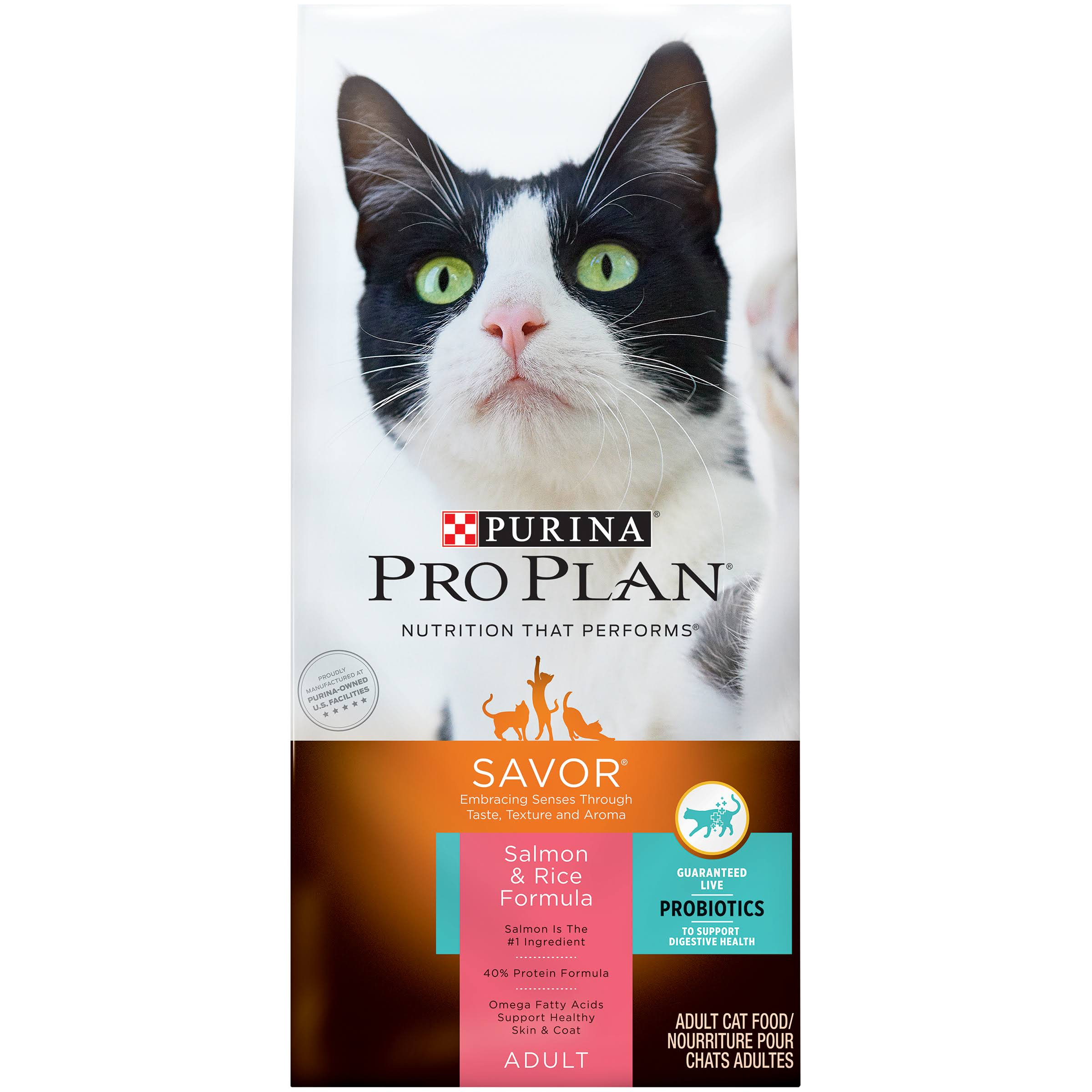 Purina Pro Plan Dry Cat Food - Salmon and Rice Formula, 7lbs