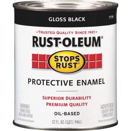 Rust-Oleum Stops Rust Protective Enamel Paint - 32oz, Gloss Black