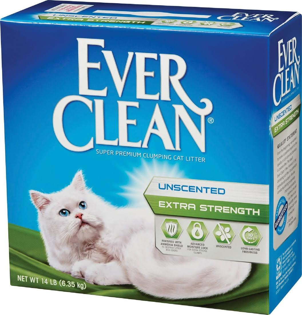 Ever Clean Extra Strength Cat Litter Unscented - 14lb