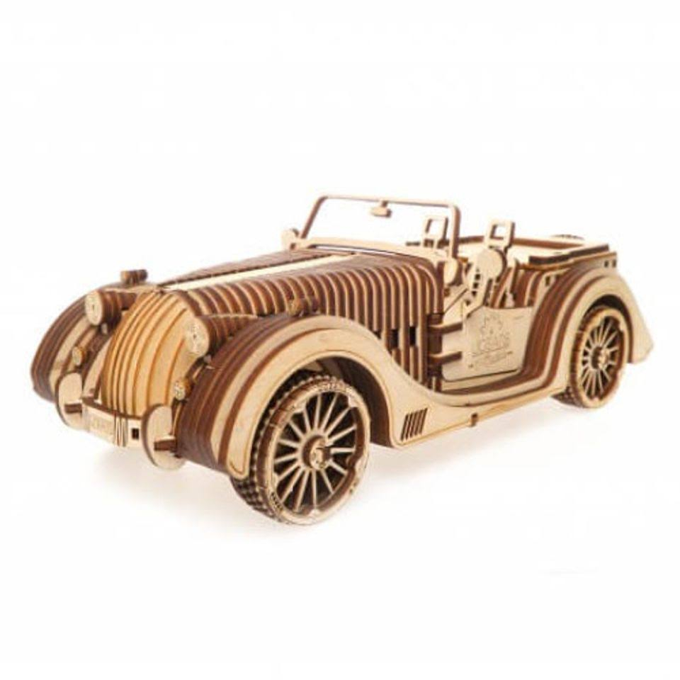 UGears Roadster VM01 Mechanical Wooden 3D Car Model Puzzle
