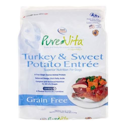 PureVita Grain Free Dog Food - Turkey And Sweet Potato Entree