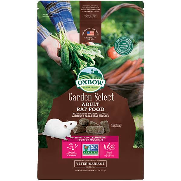 Oxbow Animal Health Garden Select Adult Rat Food - 2.5lb
