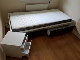 Ikea Flaxa Bed by Ikea Single Bed White Flaxa Mattress Morgedal Storage Slatted