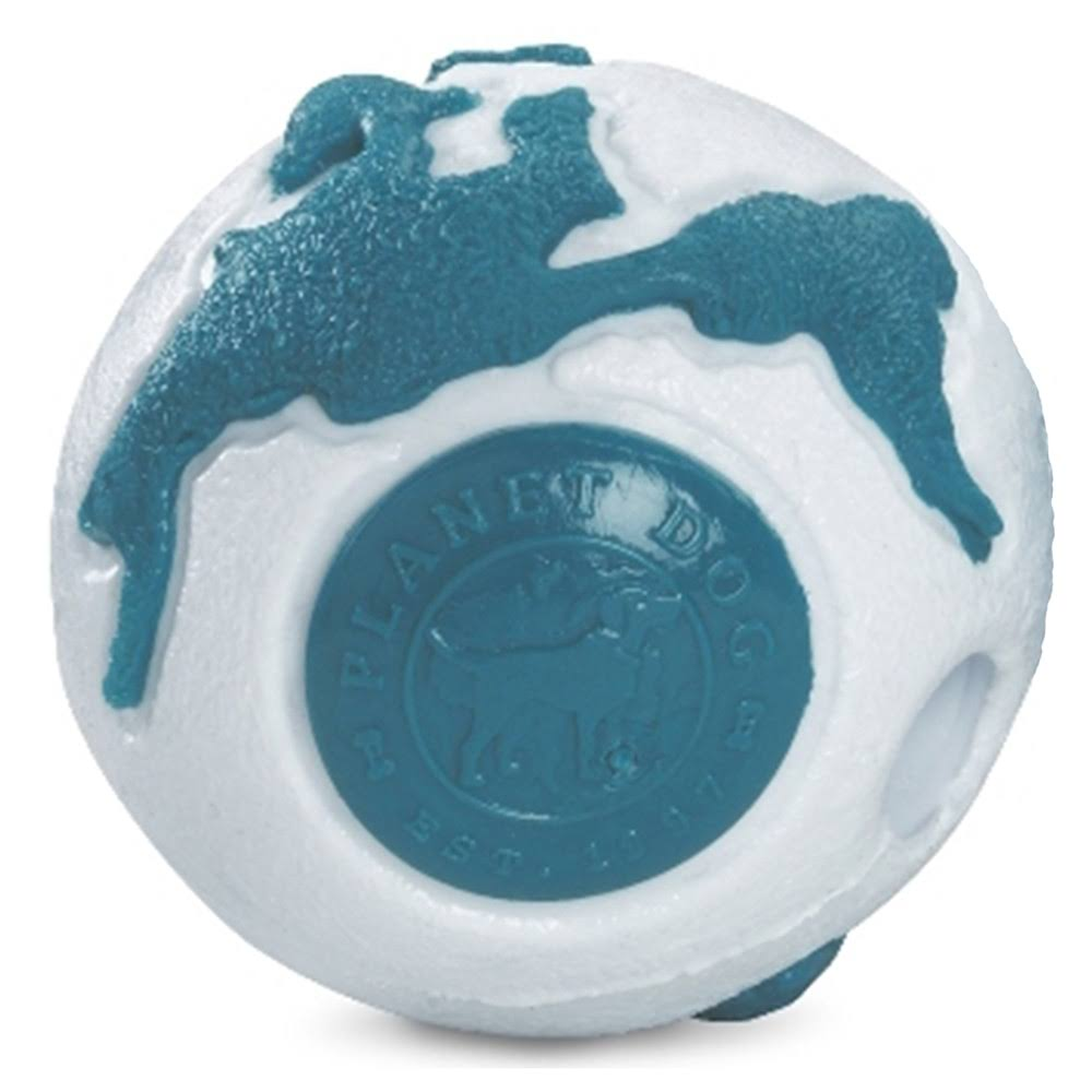 Planet Dog Old Soul Orbee Ball - Silver/Teal, Small