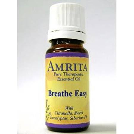 Amrita Aromatherapy Organic Breathe Easy Synergy Essential Oil Blend - 10ml