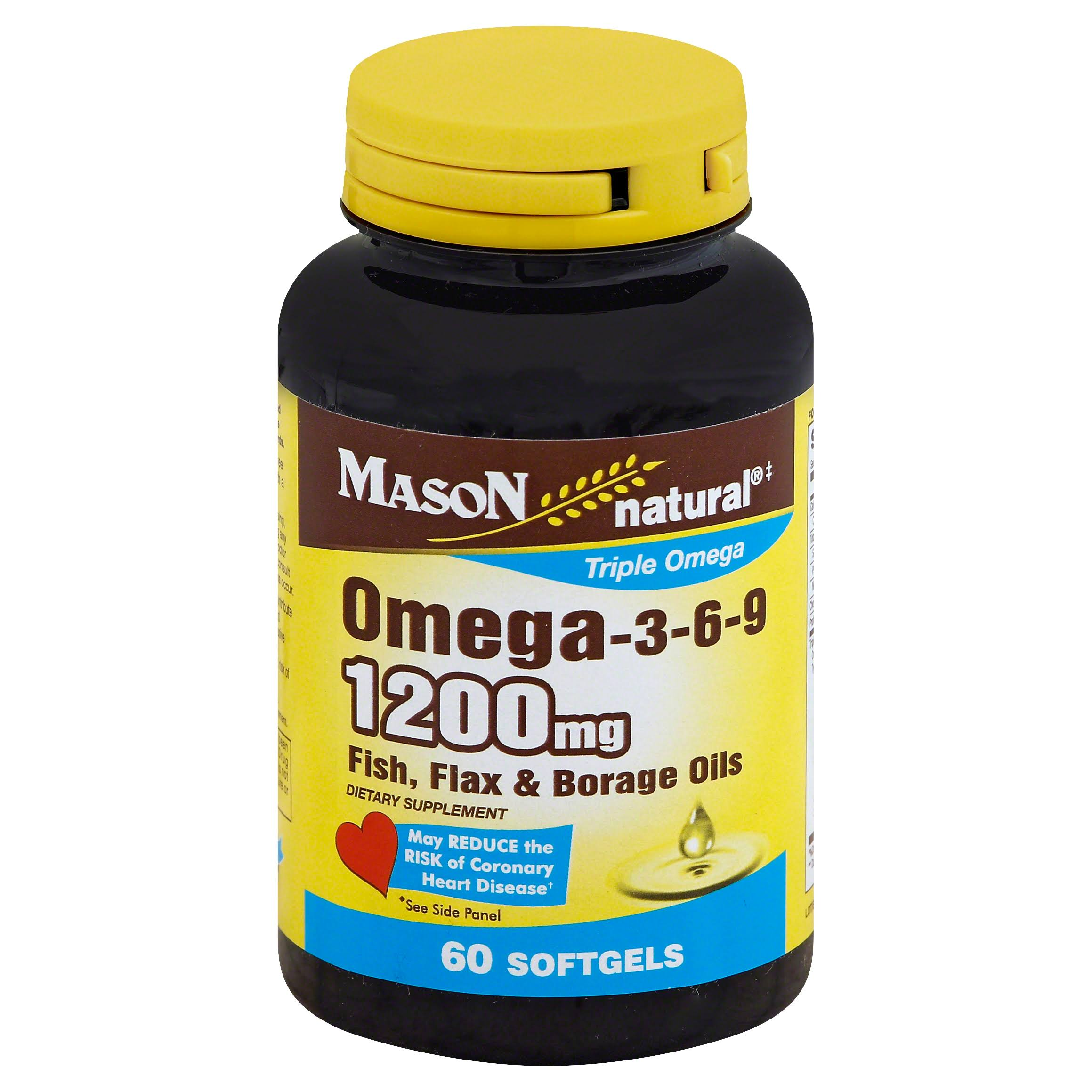 Mason Natural Omega-3-6-9 1200mg Softgels - x60