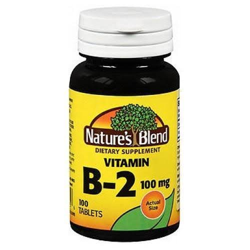 Nature's Blend Vitamin B2 Dietary Supplement - 100mg, 100 Tablets