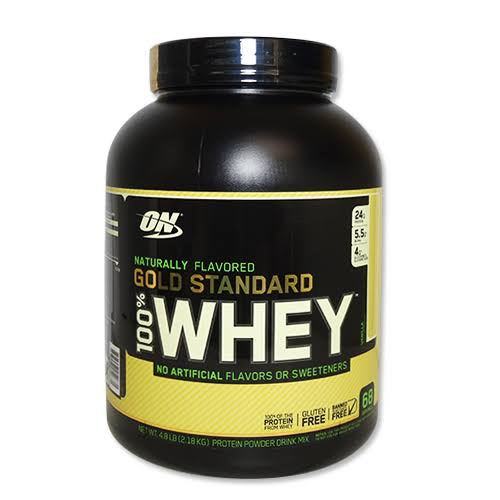 Optimum Nutrition Gold Standard Whey Protein - Naturally Flavored Vanilla, 4.8lbs