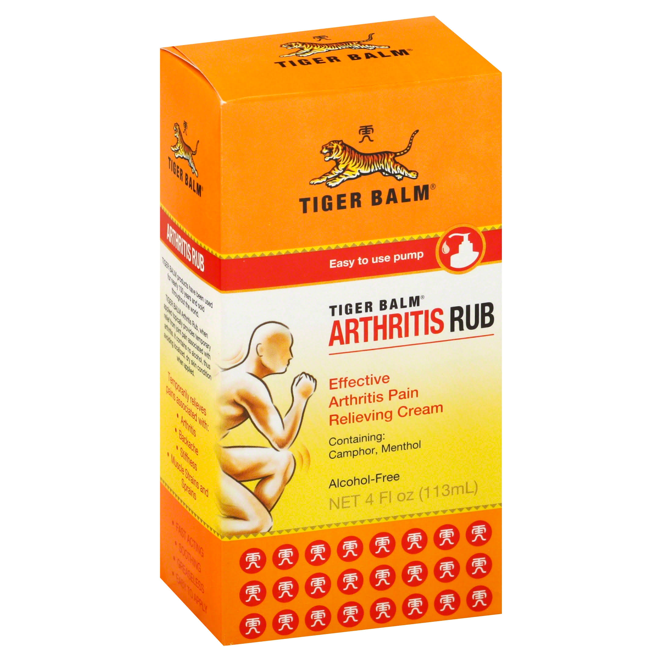 Tiger Balm Alcohol Free Athritis Rub - 4oz