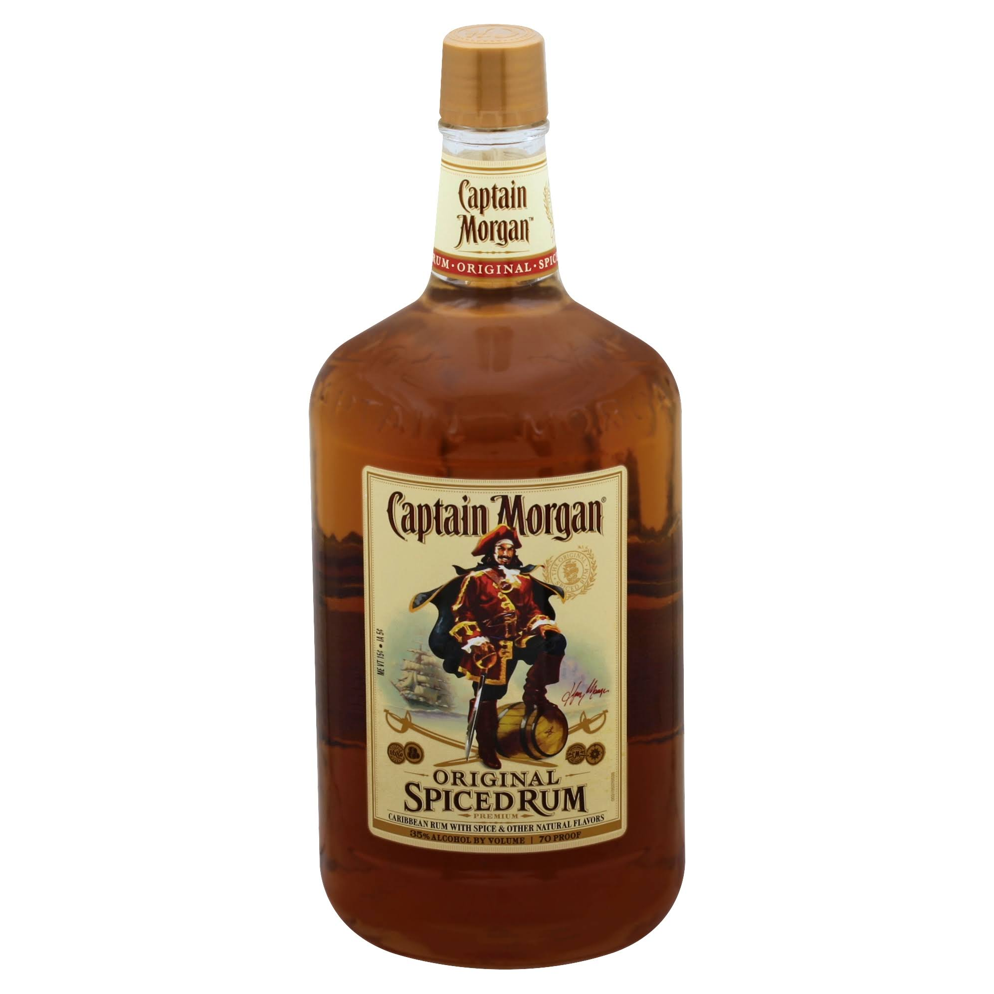 Captain Morgan Rum, Spiced, Original - 1.75 l