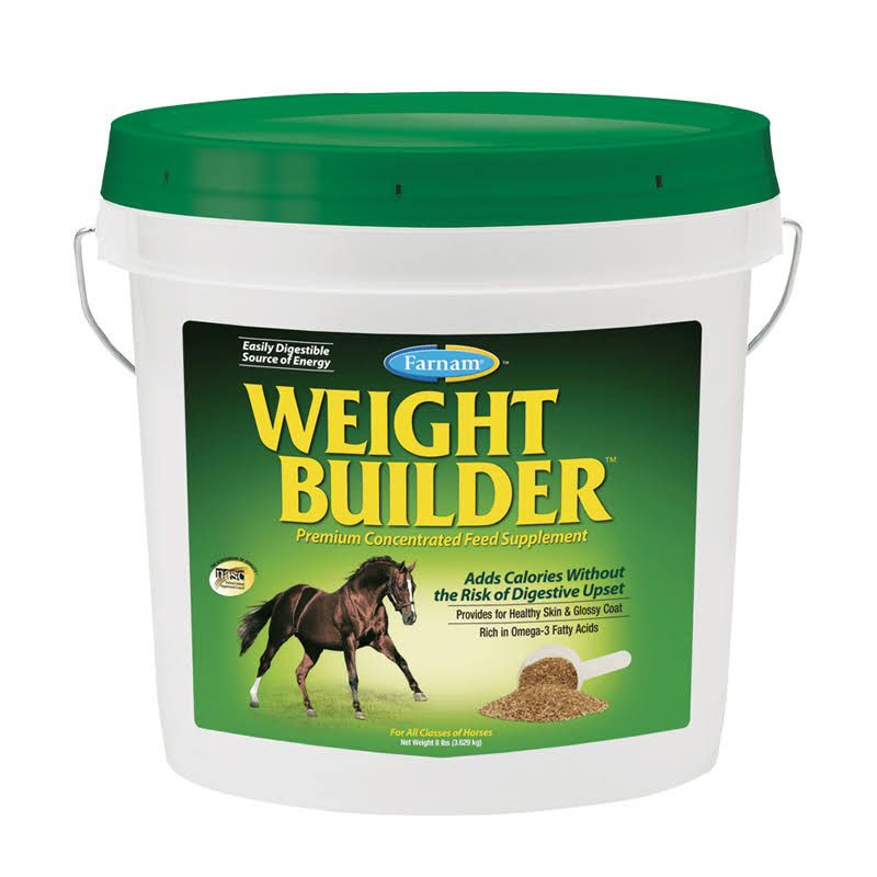 Farnam Weight Builder Premium Concentrate Horse Feed Supplement - 8lbs