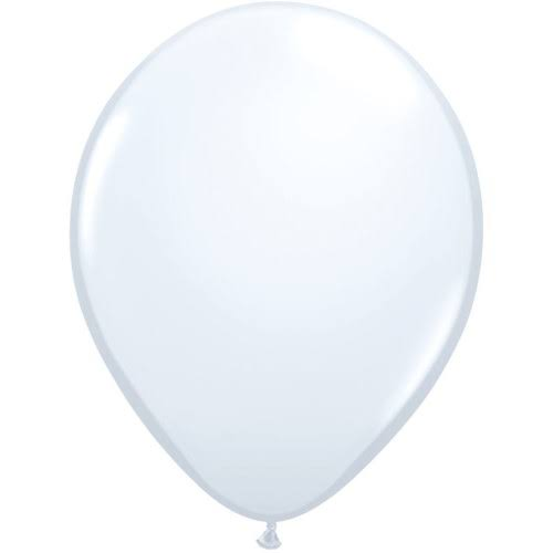 "Qualatex Round Balloons - White, 11"", Pack of 100"