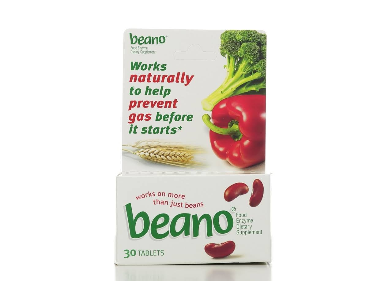 Beano Food Enzyme Dietary Supplement - 30 Tabs