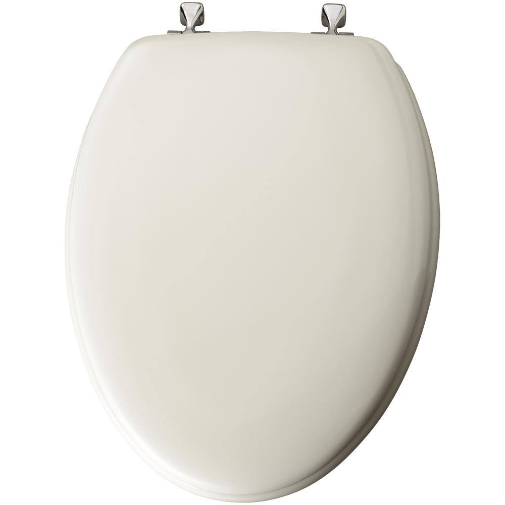 Mayfair Molded Wood Elongated Toilet Seat - White