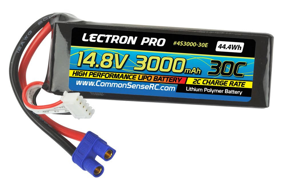 Lectron Pro High Performance Li Po Batteries - With Ec3 Connector For Edf Jets,14.8V, 3000mah, 30C