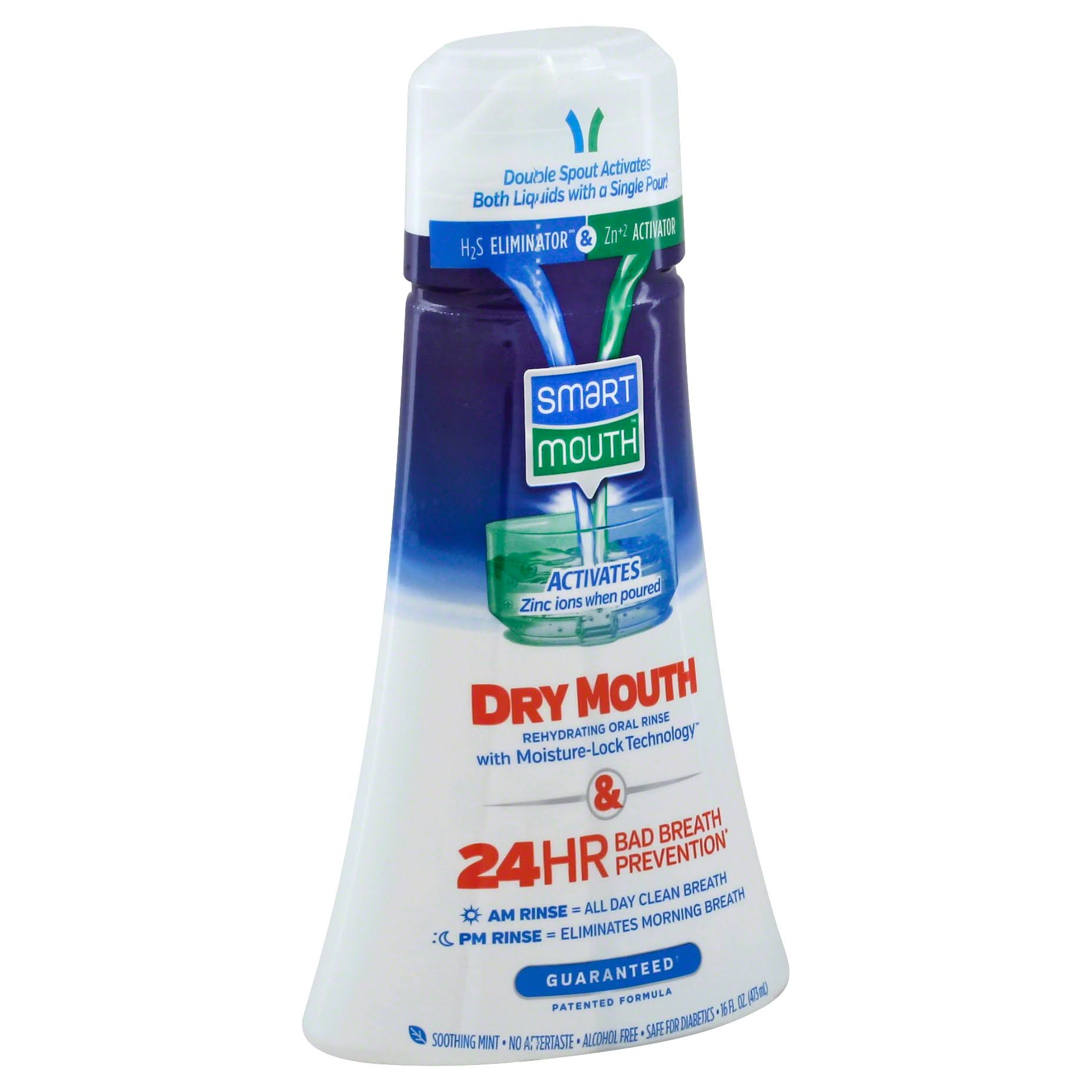 SmartMouth Dry Mouth Clean Activated Mouthwash - 16oz