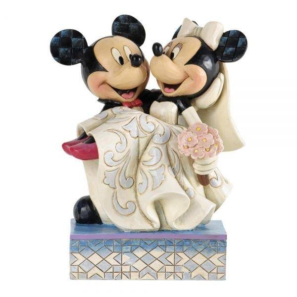 Enesco Disney Traditions by Jim Shore Stone Resin Figurine - Mickey and Minnie Mouse Wedding