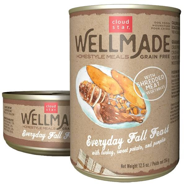 Wellmade Grain-Free Homestyle Meals Everyday Fall Feast with Turkey
