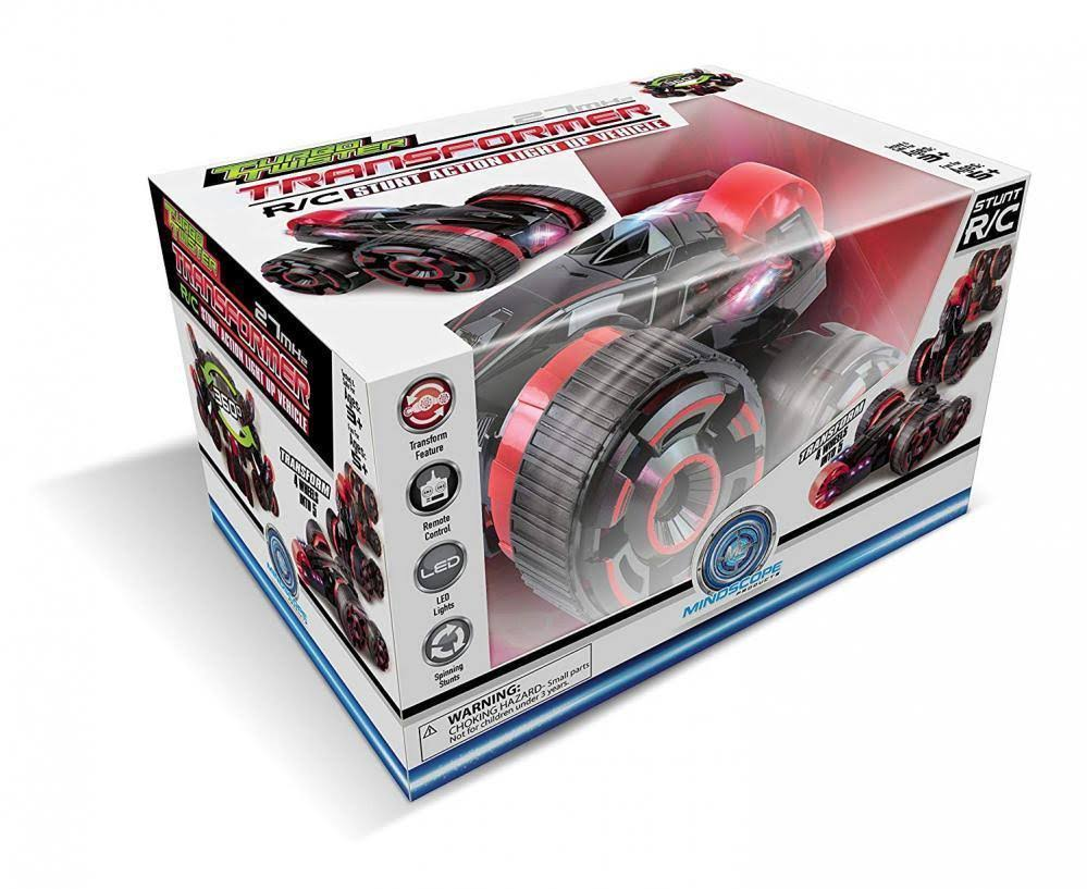 Mindscope Turbo Twister Transformer Red LED Light Up Stunt Action Radio Control RC 27 MHz Vehicle