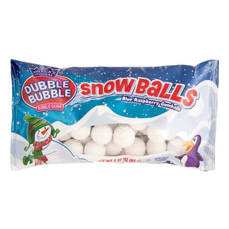 Dubble Bubble Snowballs Gumballs - Blue Raspberry, 2.32oz