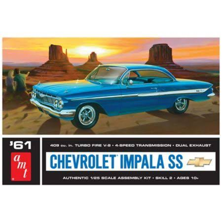 Amt 1961 Chevy Impala Car Model Kit - 1/25 scale