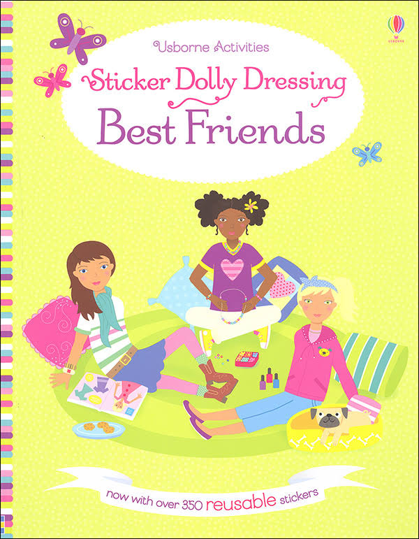 Usborne Books Sticker Dolly Dressing Best Friends