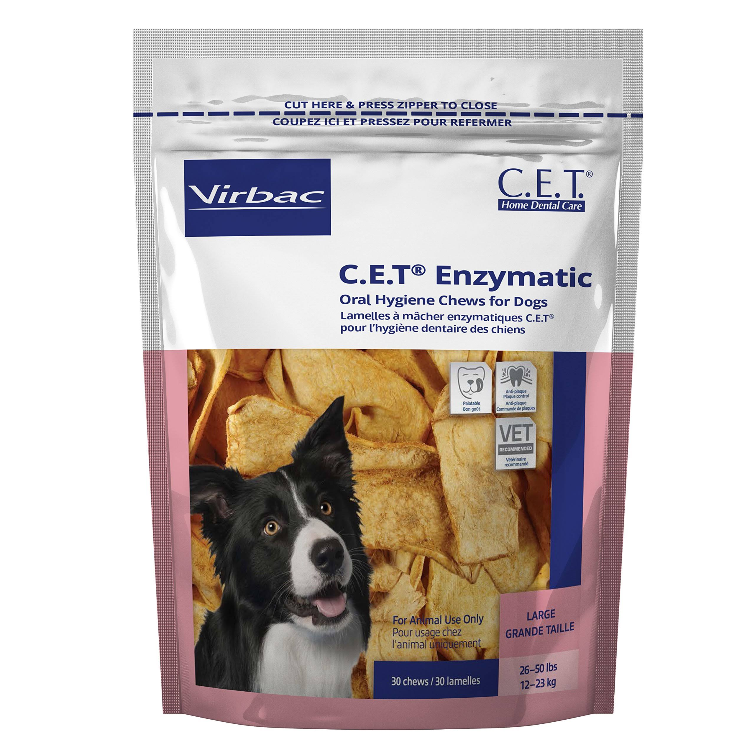 Virbac Cet Enzymatic Oral Hygiene Chews - Large Dog, 30ct