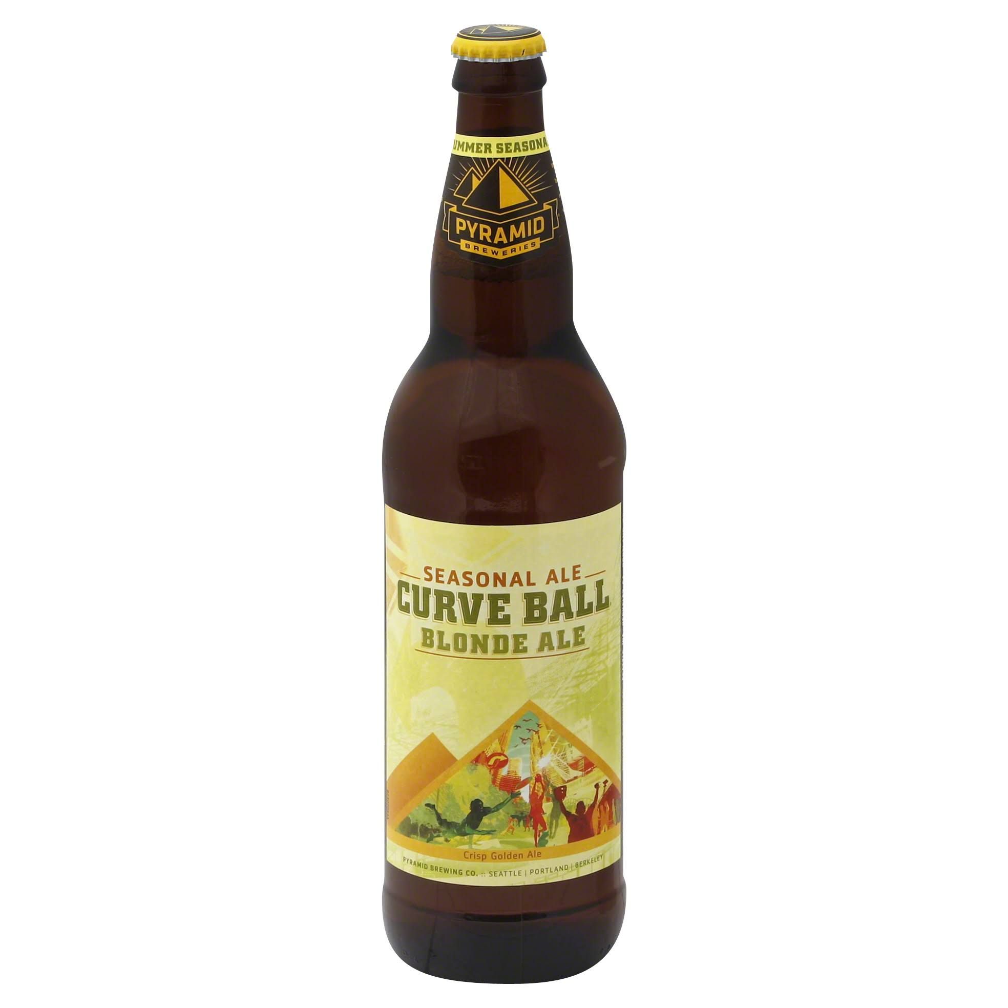 Pyramid Curve Ball Blonde Ale Cold Conditioned Ale - 22 fl oz
