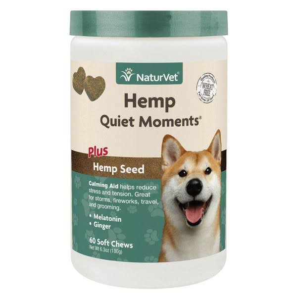 NaturVet 60 ct Hemp Quiet Moments Soft Chews